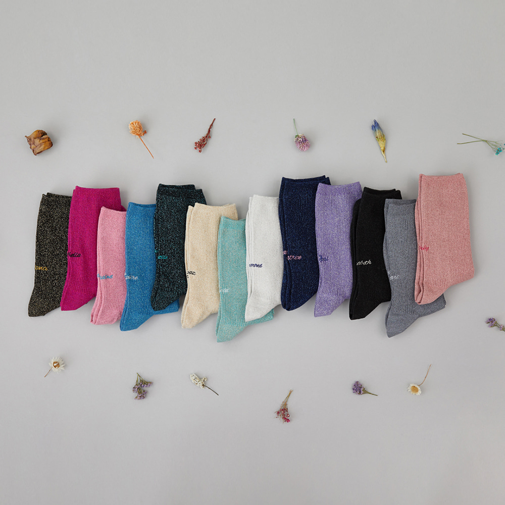 Glittering Socks 3pack (20% OFF)