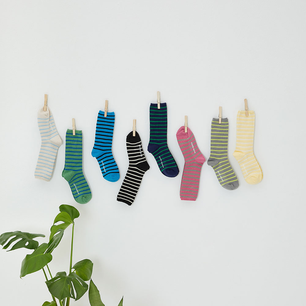 stripe socks 3pack