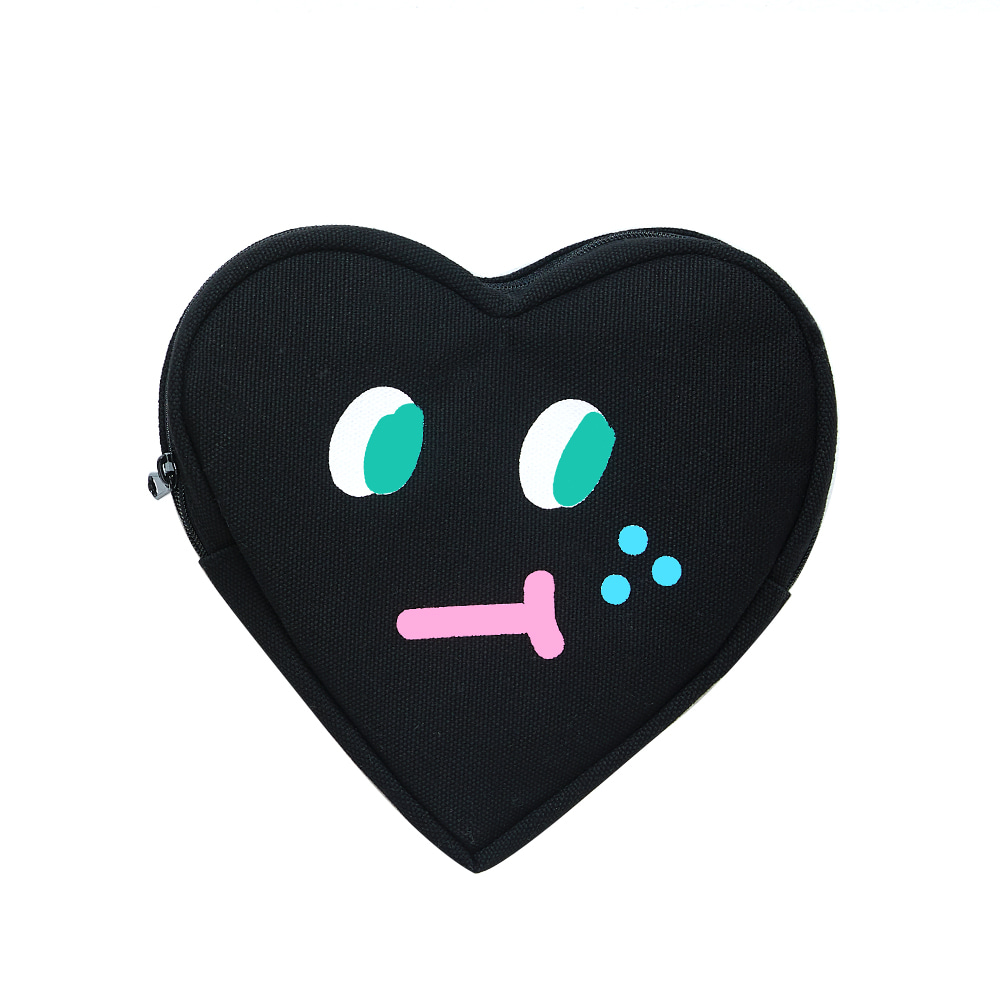 slowcoaster black heart pouch (50% OFF)