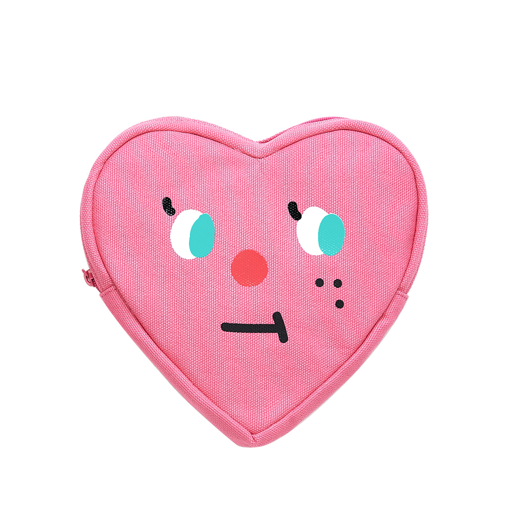 slowcoaster pink heart pouch (50% OFF)