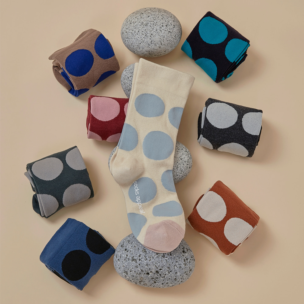 pebble dot socks 2pack (20% OFF)