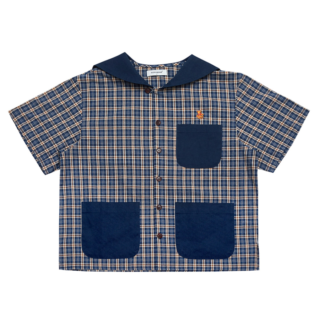 paddington sailor shirt teddy navy (OPEN EVENT 20% OFF)