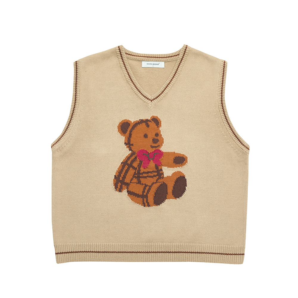 paddington teddy vest beige (OPEN EVENT 20% OFF)